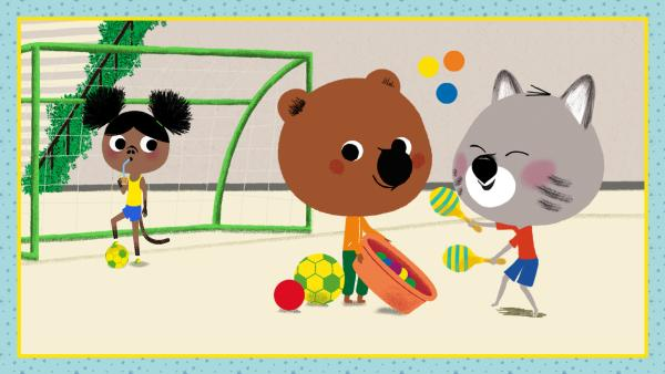 Mouk und Chavapa beim Spielen | Rechte: KiKA/Millimages