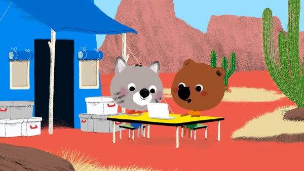 Natürlich müssen auch Mita und Popo über die Erlebnisse der beiden Freunde informiert werden.  | Rechte: KiKA/Millimages