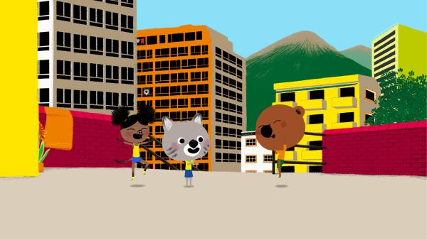 Mouk und Chavapa spielen in Amerika | Rechte: KiKA/Millimages