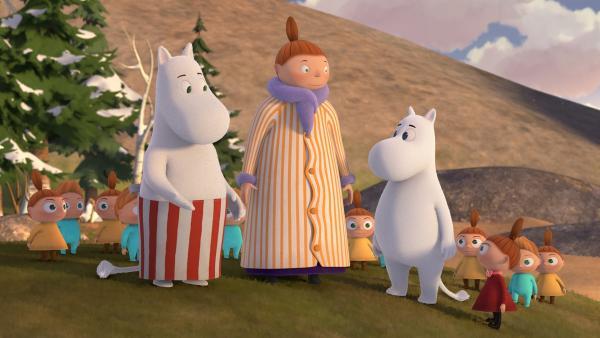 Kaum ist der Winterschlaf vorbei, steht bei den Mumins schon anstrengender Besuch ins Haus. | Rechte: ZDF/Moomin Characters/Gutsy Animations 2019