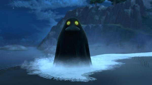 Die Morra zieht übers Land und lässt alles zu Eis gefrieren.   Rechte: ZDF/Moomin Characters/Gutsy Animations 2019