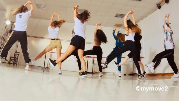 Die MY MOVE DANCECREW beim Training für die Choreo | Rechte: MDR/STARSHIP FILM GmbH