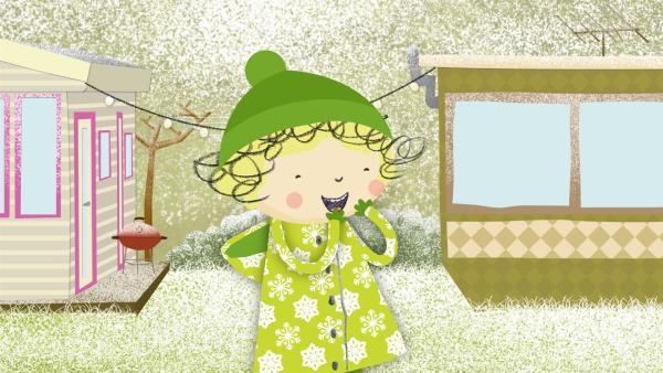 Nora findet, dass es heute eiskalt ist.  | Rechte: KiKA/Geronimo Productions