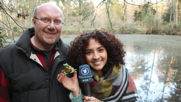 Siham mit Waldschulleiter Frank Küchenhoff. | Rechte: WDR/tvision