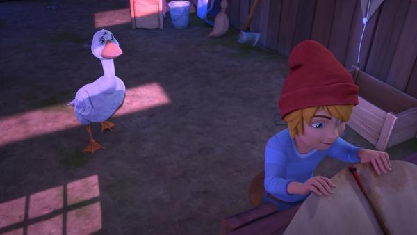 Nils interessiert sich nur für seine Flieger und kümmert sich nicht um die hungrigen Tiere. | Rechte: BR/Studio 100 Animation/Studio 100 NV