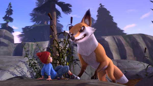 Der gierige Smirre ist immer hinter den Wildgänsen her. | Rechte: BR/Studio 100 Animation/Studio 100 NV