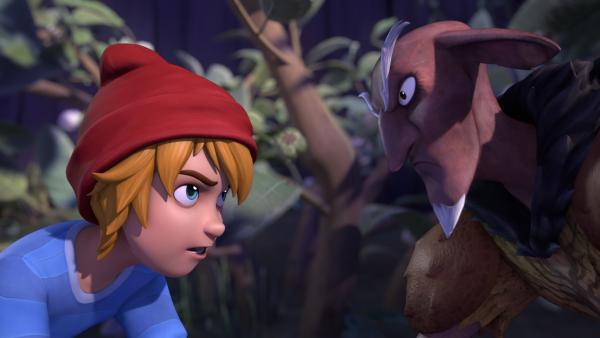 Es kommt zu einem Kopf-an-Kopf-Rennen um den wertvollen Stein. | Rechte: BR/Studio 100 Animation/Studio 100 NV