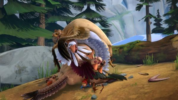 Unter Gorgos Führung kommt die Schar nicht weit. | Rechte: BR/Studio 100 Animation/Studio 100 NV