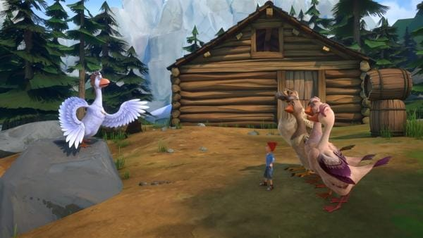 Martin findet heraus, dass Nils die anderen Gänse gegen ihn aufbringen wollte. | Rechte: BR/Studio 100 Animation/Studio 100 NV