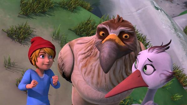 Nils und Gorgo versprechen Castanet, sie zurück zu ihren Eltern zu bringen. | Rechte: BR/Studio 100 Animation/Studio 100 NV