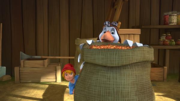 In der Scheune des Bauernhofs gibt es jede Menge Futter. | Rechte: BR/Studio 100 Animation/Studio 100 NV