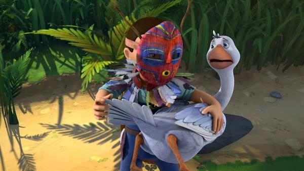 Der fiese Martin schnappt sich Martin und sperrt ihn bei sich im Schuppen ein.   Rechte: BR/Studio 100 Animation/Studio 100 NV