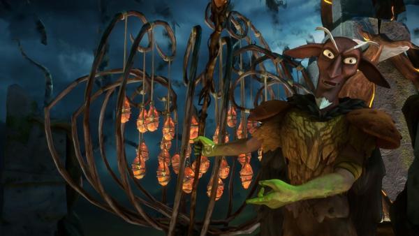 Der Dunkle Elf besitzt eine Sammlung von magischen Gegenständen. Er stiehlt sie von anderen Elfen.   Rechte: BR/Studio 100 Animation/Studio 100 NV