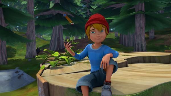 Nils ist ein Meister im Umgang mit seinem Propeller. | Rechte: BR/Studio 100 Animation/Studio 100 NV