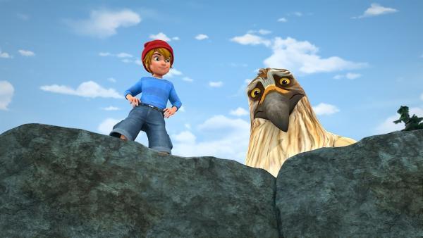 Weil er ein guter Freund sein will, macht Gorgo alles, worum Nils ihn bittet.   Rechte: BR/Studio 100 Animation/Studio 100 NV