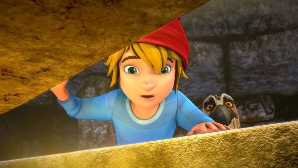 Tatsächlich: Nils findet den Schatz. Doch wie sollen sie nun die schwere Kiste aus der Höhle bekommen? | Rechte: BR/Studio 100 Animation/Studio 100 NV