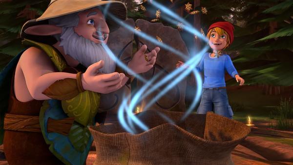 Bei ihrem jährlichen Elfenfest ehren die Elfen das fünfte Element. | Rechte: BR/Studio 100 Animation/Studio 100 NV