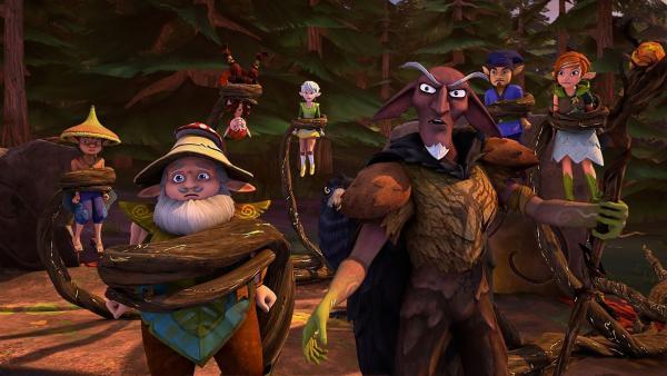 Der Dunkle Elf hat sich einfach selbst zum Fest eingeladen – ein äußerst ungebetener Gast.   Rechte: BR/Studio 100 Animation/Studio 100 NV