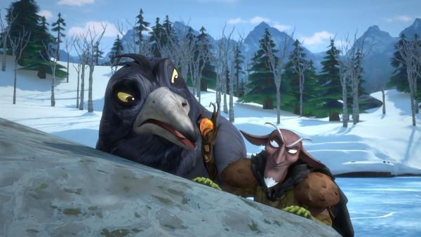 Der Dunkle Elf will sich Luxis magischen Stab schnappen. | Rechte: BR/Studio 100 Animation/Studio 100 NV