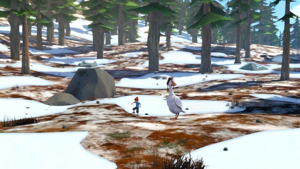 Wenn der Boden gefroren ist, ist es nicht so einfach, Würmer für Gorgo zu finden. | Rechte: BR/Studio 100 Animation/Studio 100 NV