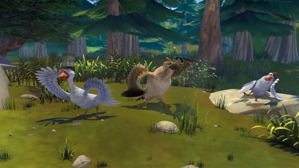 Gorgo ist beeindruckt von seinem neuen, mutigen Freund. | Rechte: BR/Studio 100 Animation/Studio 100 NV