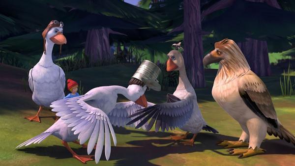 Besonders charmant behandelt Tristan die Damen in der Schar. | Rechte: BR/Studio 100 Animation/Studio 100 NV