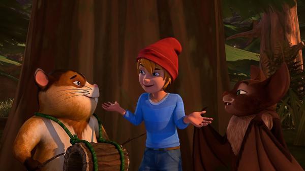 Nils findet die beiden Musiker Eddie und Willi ziemlich cool. | Rechte: BR/Studio 100 Animation/Studio 100 NV