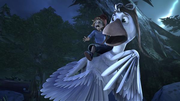 Auch wenn Nils nicht an Monster glaubt, dieser Wald ist irgendwie unheimlich.   Rechte: BR/Studio 100 Animation/Studio 100 NV