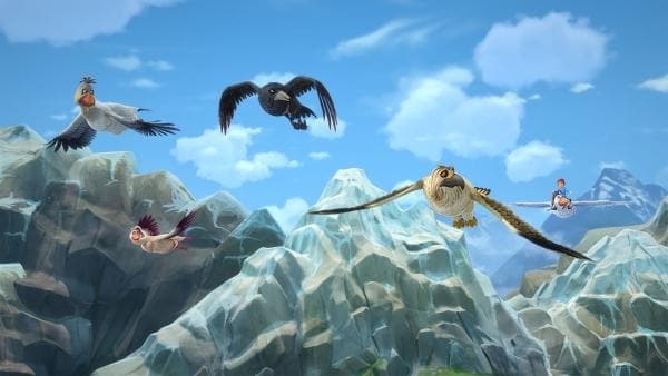 Krobak ist dankbar, von der Schar aufgenommen zu werden.   Rechte: BR/Studio 100 Animation/Studio 100 NV