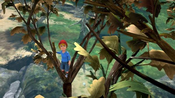 Nils fragt sich, was wohl Robur, den Baum, so krank macht. | Rechte: BR/Studio 100 Animation/Studio 100 NV