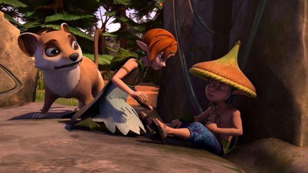 Nachdem der Dunkle Elf Roxor seinen Handschuh entrissen hat, verliert der seine Kräfte. | Rechte: BR/Studio 100 Animation/Studio 100 NV