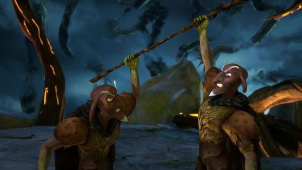 Was ist schlimmer als ein Dunkler Elf? Zwei Dunkle Elfen. | Rechte: BR/Studio 100 Animation/Studio 100 NV