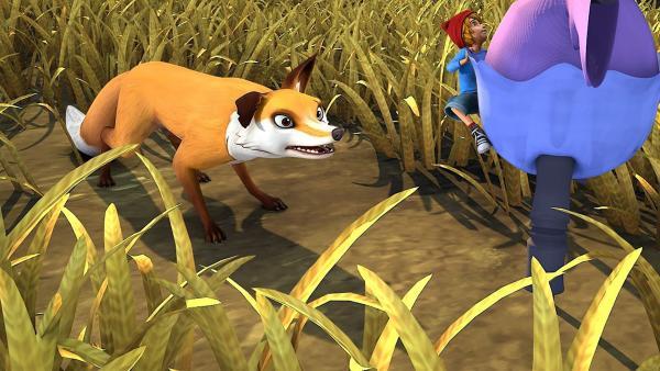 Nils geht den Schnattergänsen verloren und ist plötzlich alleine mit Smirre. | Rechte: BR/Studio 100 Animation/Studio 100 NV