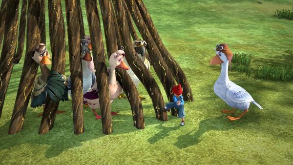 Der Dunkle Elf überfällt die Schar an ihrem Ziel und sperrt sie ein. | Rechte: BR/Studio 100 Animation/Studio 100 NV