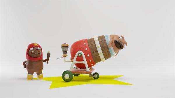 Tüftel lässt es knallen mit Nö-Nö. | Rechte: hr/Miam/Autour de minuit