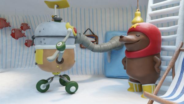 Und wieder eine neue Erfindung von Tüftel. | Rechte: hr/Miam/Autour de minuit