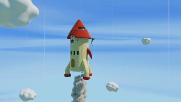 Doch Undine hängt noch an der Rakete! | Rechte: hr/Miam/Autour de minuit