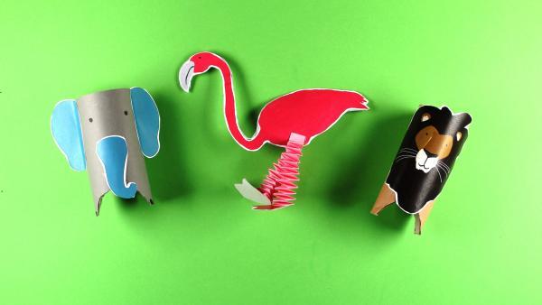 Tiere basteln | Rechte: KiKA/Nicole Bock