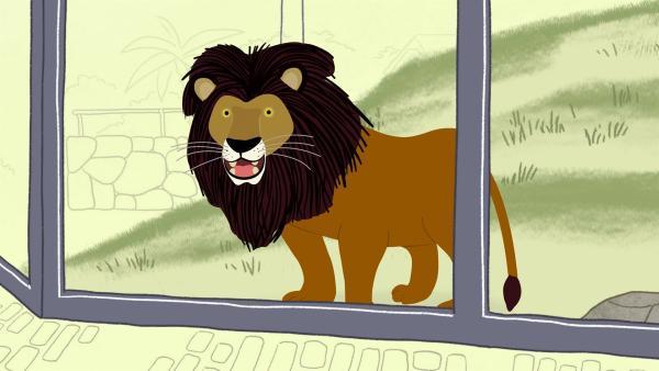 Löwe Louis hat keine Lust zu brüllen. Dann muss Valerie fürs Erste diese Aufgabe übernehmen. | Rechte: KiKA/Igloo Productions Ltd.