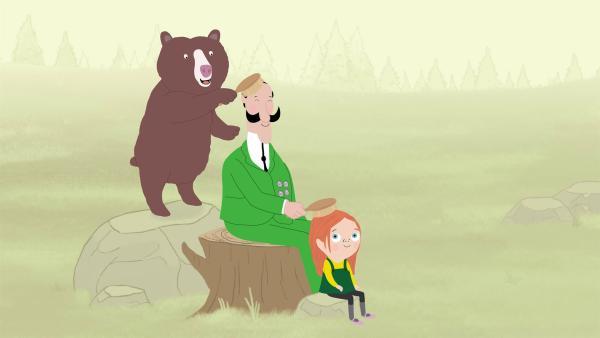 Zoodirektor Peek hat seine Aufgabenliste verloren. Kann er mit Valeries Hilfe all seine Arbeiten im Zoo erledigen? | Rechte: KiKA/Igloo Productions Ltd.