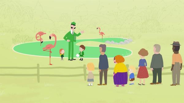 Ein Zoo muss gut organisiert sein. Jimmy stellt einen straffen Plan auf, bei dem sein Vater von Termin zu Termin hetzt. | Rechte: KiKA/Igloo Productions Ltd.