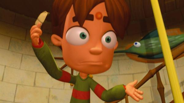 Der Alptraum jeder Teenagerfantasie ist für Tommy (Bild) wahr geworden: Ein riesiger Pickel prangt mitten auf seiner Stirn. Und das ausgerechnet am Tag des Schulfotos! | Rechte: KiKA/Taffy Prod.