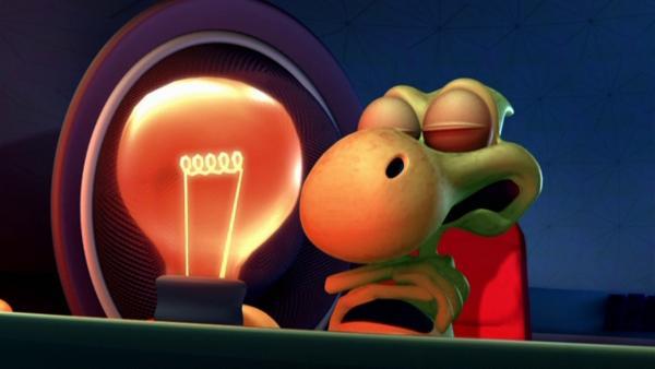 Dinko reist mit den anderen Aliens zu einem Festival auf den Planeten Uranus.   Rechte: KiKA/HR/Mike Young Prod.