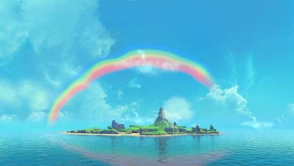 Über Nimmerland hat sich ein traumhaft schöner Regenbogen gebildet. | Rechte: ZDF/method Film / DQ Entertainent
