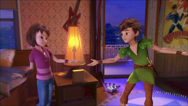 John und Michael werden wieder mal dazu verdonnert, ihr Zimmer aufzuräumen und Wendy soll ihnen helfen. Da kommt Peter Pan und nimmt die drei mit nach Nimmerland, wo sie alle ihren Spaß haben können. | Rechte: ZDF/method Film/DQ Entertainment