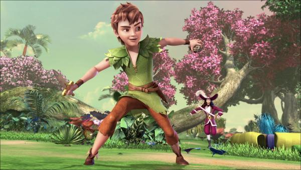 Peter kommt mit dem Stein zurück und die Piraten, die das wertvolle Stück haben wollen, greifen die Kinder an.   Rechte: ZDF/method Film/DQ Entertainment