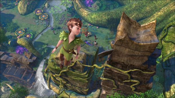 Peter Pan im Wald des Raunens auf Nimmerland.   Rechte: ZDF/method Film/DQ Entertainment