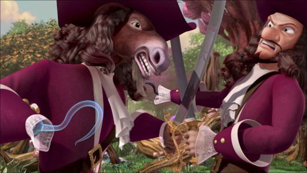 Captain Hook und sein verunglückter Doppelgänger. | Rechte: ZDF/method Film/DQ Entertainment