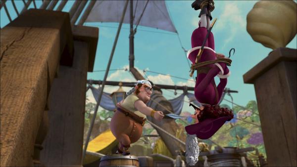 Nach einem Sturz auf den Kopf ist Hook geistig verwirrt treibt allerlei Schabernack. | Rechte: ZDF/method Film/DQ Entertainment