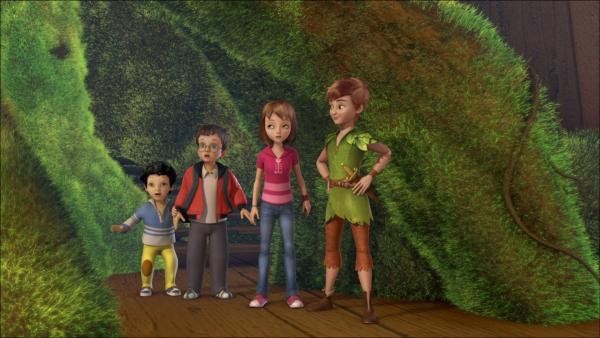 Peter Pan, Wendy, John und Michael sind im Verwunschenen Sumpf. | Rechte: ZDF/method Film/DQ Entertainment